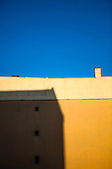 Summer light on a residential building in Moabit, Berlin, Germany