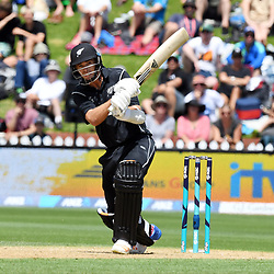 New Zealand's Tim Southee bats against Pakistan in the fifth one day International Cricket match, Basin Reserve, Wellington, New Zealand, Friday, January 19, 2018