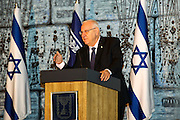 "Reuven ""Rubi"" Rivlin (born 9 September 1939) is an Israeli politician and lawyer who is the 10th President of Israel since 2014. Photographed on August 10 2015 at Beit HaNassi (""President's House"")"