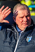 Gillingham FC  manager Steve Evans during the EFL Sky Bet League 1 match between Gillingham and Oxford United at the MEMS Priestfield Stadium, Gillingham, England on 18 January 2020.