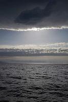 Moody sky over ocean