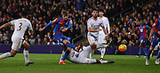 Patrick Bamford fires one during the Barclays Premier League match between Crystal Palace and Swansea City at Selhurst Park, London, England on 28 December 2015. Photo by Michael Hulf.