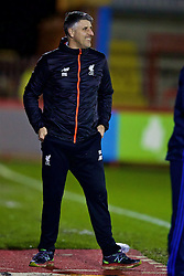 KIDDERMINSTER, ENGLAND - Tuesday, February 28, 2017: Liverpool's coach Mike Garrity during the FA Premier League Cup Group G match against West Bromwich Albion at Aggborough Stadium. (Pic by David Rawcliffe/Propaganda)