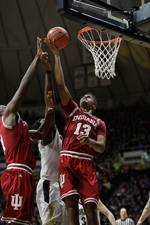 Indiana forward Juwan Morgan (13) in action as Purdue played Indiana in an NCCA college basketball game in West Lafayette, Ind., Tuesday, Feb. 28, 2017. (Photo by AJ Mast)