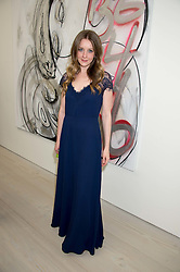 Actress ZOE RICHARDS at the opening of the exhibition Champagne Life in celebration of 30 years of The Saatchi Gallery, held on 12th January 2016 at The Saatchi Gallery, Duke Of York's HQ, King's Rd, London.