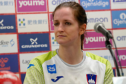 30-11-2019 JAP: Netherlands - Slovenia, Kumamoto<br /> First day 24th IHF Womenís Handball World Championship, Netherlands lost the first match against Slovenia with 26 - 32. / Ana Gros #6 of Slovenia