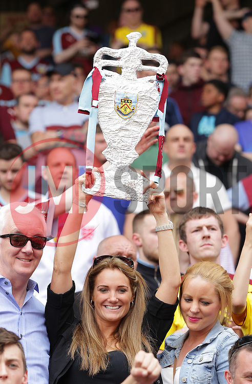 Burnley fans celebrate after the match - Mandatory by-line: Paul Terry/JMP - 07/05/2016 - FOOTBALL - The Valley - London, England - Charlton Athletic v Burnley - Sky Bet Championship