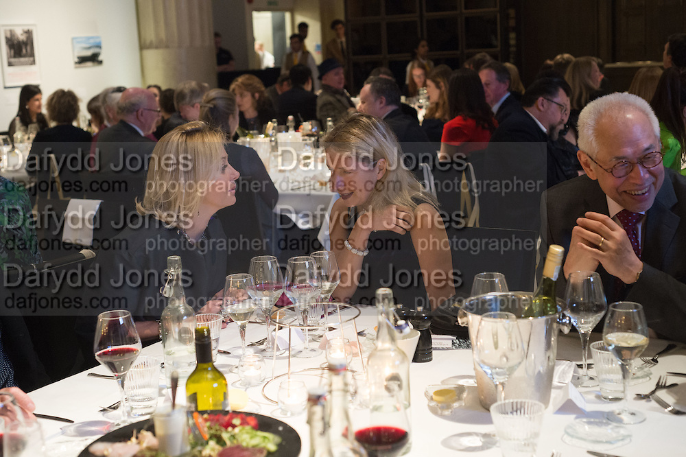 NADJA SWAROVSKI, IWONA BLAZWICK at the Whitechapel Gallery Art Icon 2015 Gala dinner supported by the Swarovski Foundation. The Banking Hall, Cornhill, London. 19 March 2015