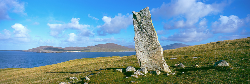 Clach Mhic Leoid (Macleods Stone), an ancient standing stone near Scarista, South Harris