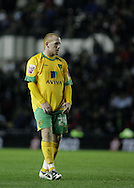 Derby - Tuesday October 28th, 2008: Matthew Pattison of Norwich City despairs at missing a chance against Derby during the Coca Cola Championship match at Pride Park, Derby. (Pic by Michael Sedgwick/Focus Images)