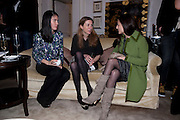 NANCY LICHTERMAN-BRET; ANNE-SOPHIE SABOURET; ANNE MCCABE, Hamlton-Paris host a trunk show for Autumn/Wnter 2010. The Connaught. Carlos Place. Mayfair. London W1. 23 March 2010.