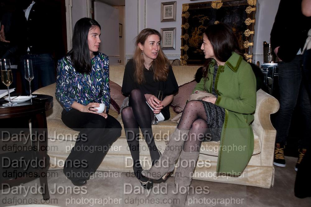 NANCY LICHTERMAN-BRET; ANNE-SOPHIE SABOURET; ANNE MCCABE, Hamlton-Paris host a trunk show for Autumn/Wnter 2010. The Connaught. Carlos Place. Mayfair. London W1. 23 March 2010.