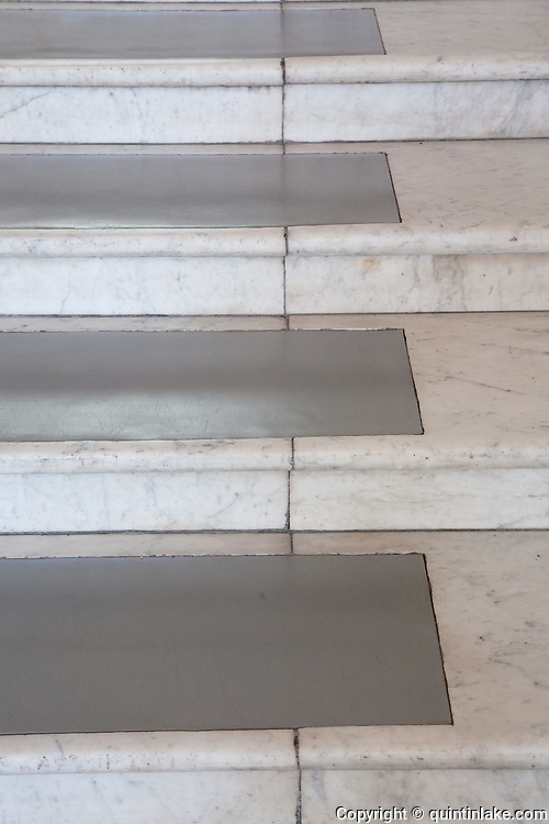 Lino inlaid in marble or entrance hall steps. Post Office Savings Bank, Vienna, Austria 1904-12 Architect: Otto Wagner