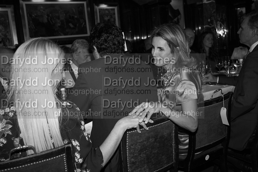 ANASTASIA MORASGLIA; GEORGE VARDINOYANNI; DONELIA TARANTELLI, Pedro Girao of Christies and Duncan Macintyre of Lombard Odier host the last dinner at the Old Annabels. 44 Berkeley Sq. London. 15 November 2018