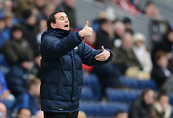 Blackburn Rovers Manager, Gary Bowyer gestures to his players - Photo mandatory by-line: Richard Martin Roberts/JMP - Mobile: 07966 386802 - 24/01/2015 - SPORT - Football - Blackburn - Ewood Park - Blackburn Rovers v Swansea City - FA Cup Fourth Round