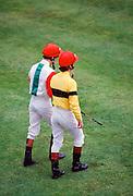 Jockeys at Ascot races, UK
