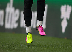 General view as George Moncur of Barnsley warms up with different colour Puma boots on - Mandatory by-line: Jack Phillips/JMP - 05/01/2019 - FOOTBALL - Turf Moor - Burnley, England - Burnley v Barnsley - English FA Cup