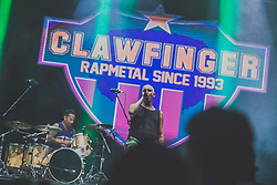 Clawfinger RapMetal band performing during Castle Kolpa Music Festival on 2nd August, in Kastel, Slovenia. Photo by Grega Valancic / Sportida