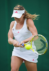 LONDON, ENGLAND - Monday, June 22, 2009: Michelle Larcher De Brito (POR) during her Ladies' Singles 1st Round victory on day one of the Wimbledon Lawn Tennis Championships at the All England Lawn Tennis and Croquet Club. (Pic by David Rawcliffe/Propaganda)
