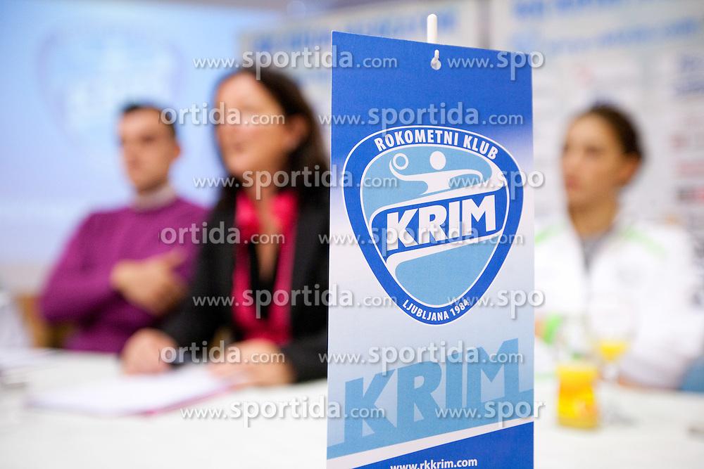 Marta Bon during press conference of handball team RK Krim Mercator before new season 2010-2011, on September 29, 2010 in M-Hotel, Ljubljana, Slovenia. (Photo By Vid Ponikvar / Sportida.com)