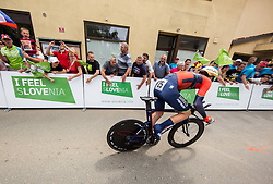 Matej Mohoric of Bahrain Merida during 5th Time Trial Stage of 25th Tour de Slovenie 2018 cycling race between Trebnje and Novo mesto (25,5 km), on June 17, 2018 in  Slovenia. Photo by Vid Ponikvar / Sportida
