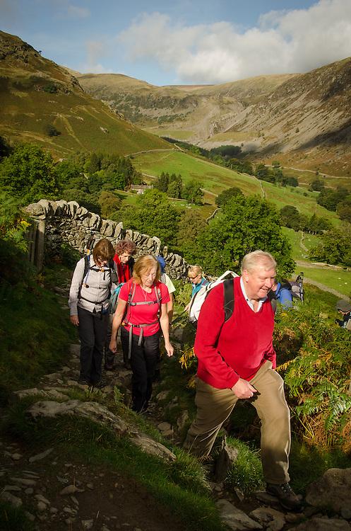 LDNPA guided walk to St Sunday Crag via Grisedale tarn, Ullswater Walking Festival, 2011