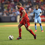 Steven Gerrard, Liverpool, in action during the Manchester City Vs Liverpool FC Guinness International Champions Cup match at Yankee Stadium, The Bronx, New York, USA. 30th July 2014. Photo Tim Clayton