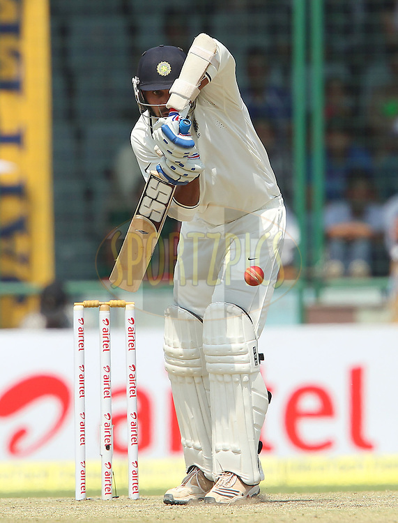 Murali Vijay of India during day 2 of the 4th Test Match between India and Australia held at the Feroz Shah Kotla stadium in Delhi on the 23rd March 2013..Photo by Ron Gaunt/BCCI/SPORTZPICS ..Use of this image is subject to the terms and conditions as outlined by the BCCI. These terms can be found by following this link:..http://www.sportzpics.co.za/image/I0000SoRagM2cIEc