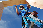 Habitat for Humanity Tucson volunteer at Building Freedom Day, September 11, 2009.