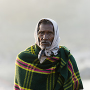 Indian man in early morning at the village of Orchha