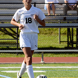 Staff photos by Tom Kelly IV<br /> Strath Haven's Ami Iannello (18) with the ball during the Agnes Irwin School vs Strath Haven girls soccer scrimmage in Nether Providence Township, Thursday August 28, 2014.