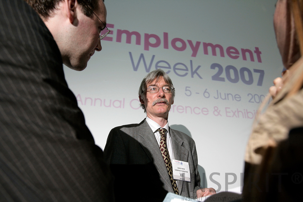 BRUSSELS - BELGIUM - 05 JUNE 2007 -- Employment Week 2007 -- David FODEN, Research Manager, European Foundation for the Improvement of Living and Working Conditions. Photo: Erik Luntang/INSPIRIT Photo