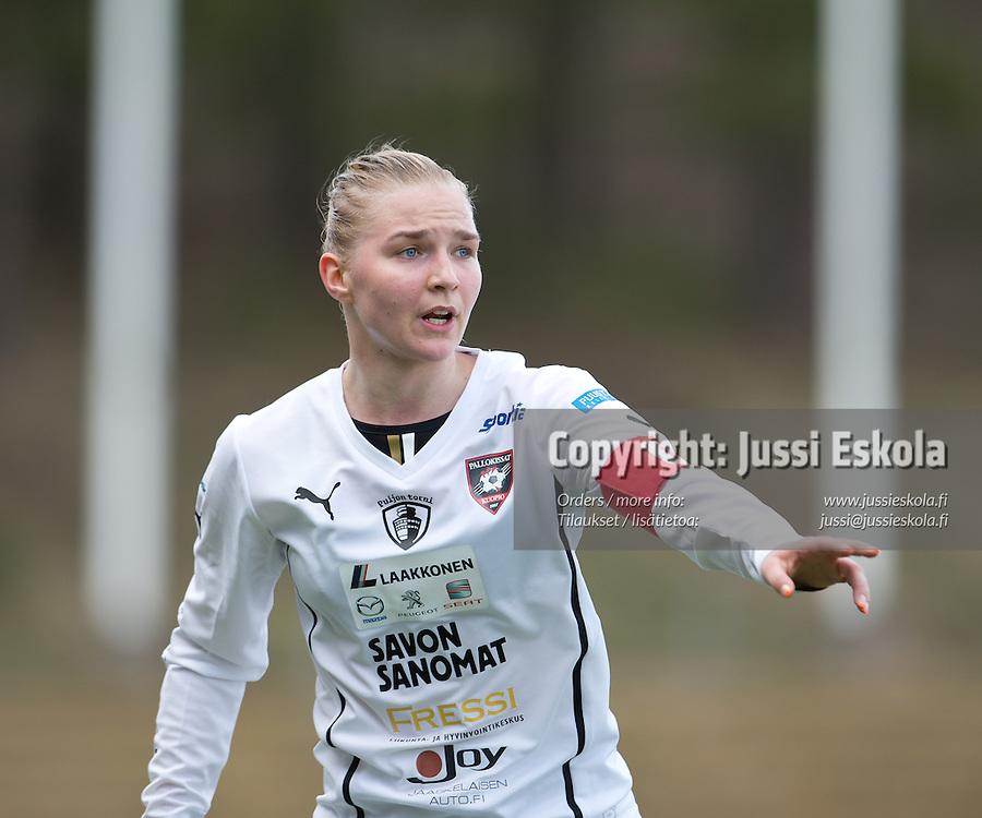 Emilia Iskanius. PK-35 - Pallokissat, Naisten Liiga, Vantaa 27.4.2013. Photo: Jussi Eskola