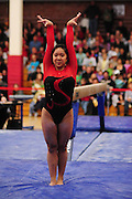 January 24, 2010; Stanford, CA, USA; Stanford Cardinal gymnast Catherine Nguyen performs on the beam during the meet against the UCLA Bruins at Burnham Pavilion. The Cardinal defeated the Bruins 196.43-195.83. Mandatory Credit: Kyle Terada-Terada Photo