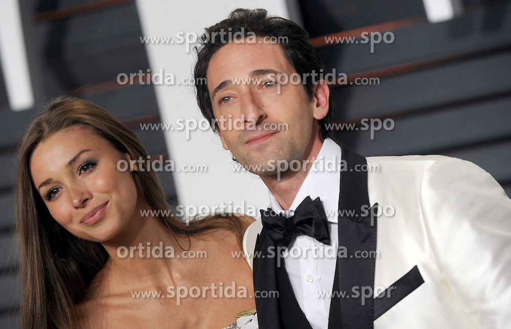 Adrien Brody, Lara Lieto in attendance for 2015 Vanity Fair Oscar Party Hosted By Graydon Carter at Wallis Annenberg Center for the Performing Arts on February 22, 2015 in Beverly Hills, California. EXPA Pictures &copy; 2015, PhotoCredit: EXPA/ Photoshot/ Dennis Van Tine<br /> <br /> *****ATTENTION - for AUT, SLO, CRO, SRB, BIH, MAZ only*****