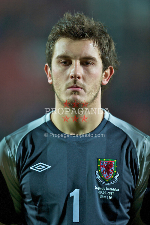 WREXHAM, WALES - Wednesday, February 9, 2011: Wales' goalkeeper Rhys Taylor before the Under-21 International Friendly match against Northern Ireland at the Racecourse Ground. (Photo by David Rawcliffe/Propaganda)