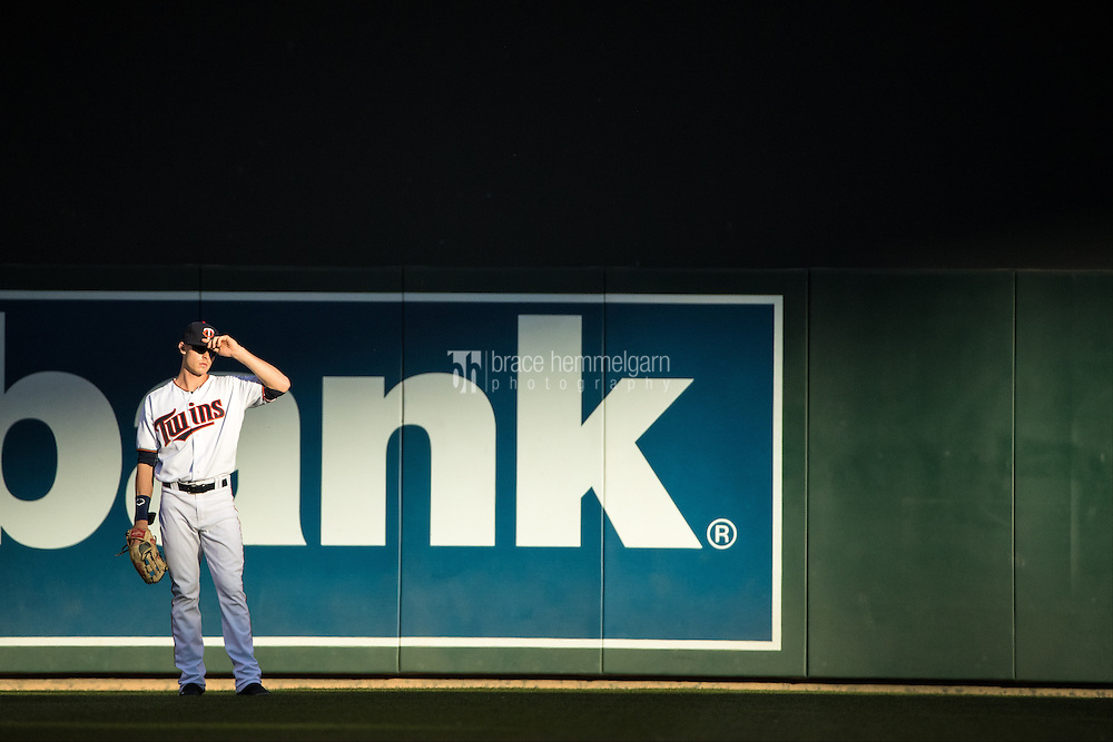 MINNEAPOLIS, MN- JUNE 02: Max Kepler #26 of the Minnesota Twins looks on against the Tampa Bay Rays on June 2, 2016 at Target Field in Minneapolis, Minnesota. The Twins defeated the Rays 6-4. (Photo by Brace Hemmelgarn) *** Local Caption *** Max Kepler