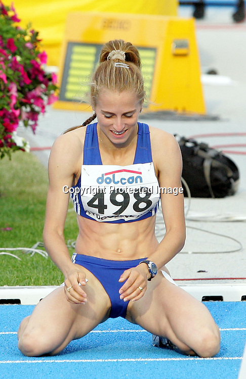12th IAAF World Junior Championship women 800m final, Elena Mirela Lavric Romania gold medal and world champion, Bydgoszcz, Poland, 11 July 2008. Photo: Aleksandar Djorovic/PHOTOSPORT