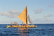 Double hull sailing canoe, Hawaii