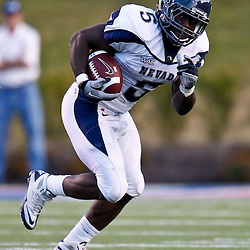 December 4, 2010; Ruston, LA, USA;  Nevada Wolf Pack running back Mike Ball (5) against the Louisiana Tech Bulldogs during the second half at Joe Aillet Stadium.  Nevada defeated Louisiana Tech 35-17. Mandatory Credit: Derick E. Hingle