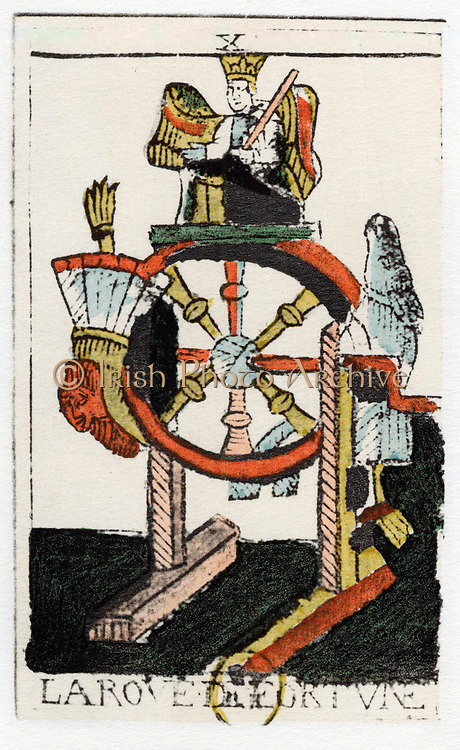 Tarot card. The Juggler or Mountebank. Parisian Tarot 1500. Tarot pack of 22 cards was used in fortune telling.