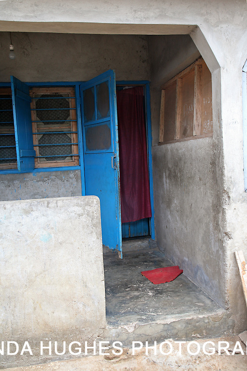 Entry of a Home in a Remote Village in Ghana West Afria