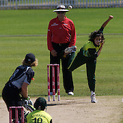 during the match between New Zealand and Pakistan in the Super 6 stage of the ICC Women's World Cup Cricket tournament at Drummoyne Oval, Sydney, Australia on March 19, 2009. New Zealand won the match by 223 runs. Photo Tim Clayton
