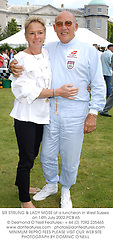 SIR STIRLING & LADY MOSS at a luncheon in West Sussex on 14th July 2002.			PCB 65