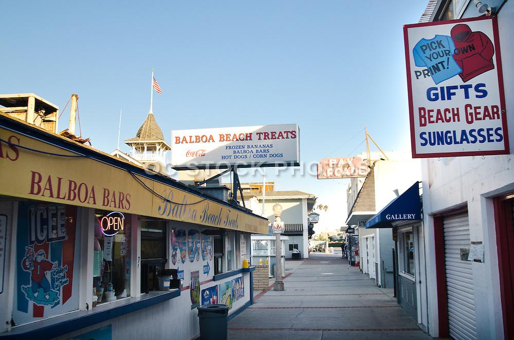 Balboa Fun Zone In Newport Beach California