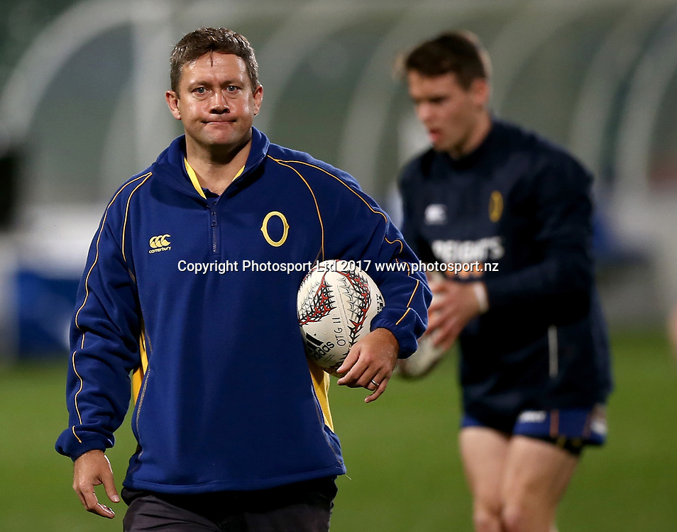 Head Coach Cory Brown of Otago before the Mitre 10 Cup Rugby Match between North Harbour and Otago at QBE Stadium, Auckland New Zealand, Thursday, August 17, 2017. Copyright photo: David Rowland / www.photosport.nz