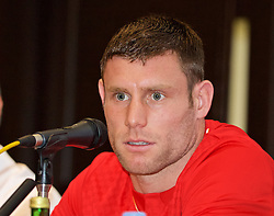 KUALA LUMPUR, MALAYSIA - Wednesday, July 22, 2015: Liverpool's James Milner during a press conference at the Saujana Hotel on day ten of the club's preseason tour. (Pic by David Rawcliffe/Propaganda)