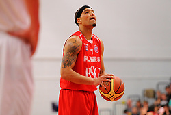 Bristol Flyers' Greg Streete lines up a free throw  - Photo mandatory by-line: Joe Meredith/JMP - Mobile: 07966 386802 - 18/04/2015 - SPORT - Basketball - Bristol - SGS Wise Campus - Bristol Flyers v Leeds Force - British Basketball League
