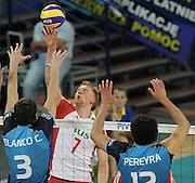 WROCLAW 26/06/2010.VOLLEYBALL WORLD LEAGUE 2010.INTERCONTINENTAL ROUND.POLSAND v ARGENTINA.JAKUB JAROSZ /POL/.FOT. PIOTR HAWALEJ / WROFOTO