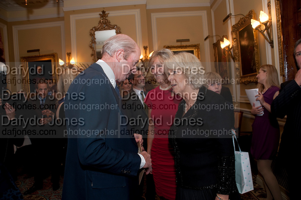 NICK PETO; CAMILLA DUCHESS OF CORNWALL, The Lady Joseph Trust, fundraising party.<br /> Camilla, Duchess of Cornwall  attends gala fundraising event as newly appointed President of the charity. The Lady Joseph Trust was formed in 2009 to raise funds to acquire horses for the UKÕs top Paralympic riders Cavalry and Guards Club, 127 Piccadilly, London,<br /> 26 October 2011. <br /> <br />  , -DO NOT ARCHIVE-© Copyright Photograph by Dafydd Jones. 248 Clapham Rd. London SW9 0PZ. Tel 0207 820 0771. www.dafjones.com.<br /> NICK PETO; CAMILLA DUCHESS OF CORNWALL, The Lady Joseph Trust, fundraising party.<br /> Camilla, Duchess of Cornwall  attends gala fundraising event as newly appointed President of the charity. The Lady Joseph Trust was formed in 2009 to raise funds to acquire horses for the UK's top Paralympic riders Cavalry and Guards Club, 127 Piccadilly, London,<br /> 26 October 2011. <br /> <br />  , -DO NOT ARCHIVE-© Copyright Photograph by Dafydd Jones. 248 Clapham Rd. London SW9 0PZ. Tel 0207 820 0771. www.dafjones.com.